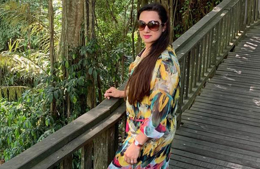 Shalini Hiralall , life is all about feeling pretty in the right dress